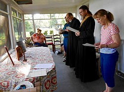 Reader Service On The Porch